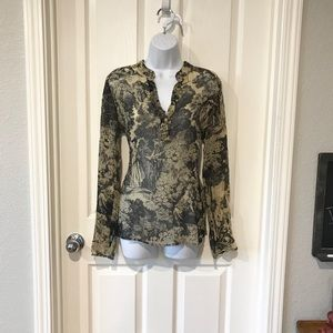 Unique Karen Kane 100% Silk blouse top small